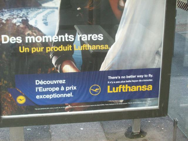 There's no better way to fly (or advertise in France in English)
