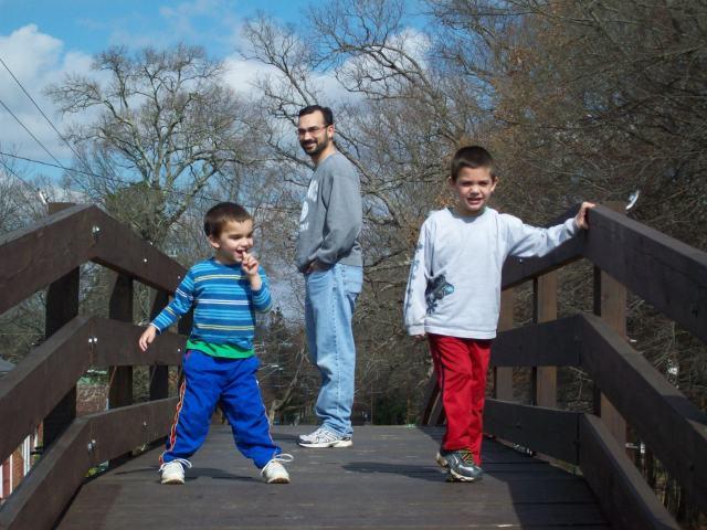 David with boys in Waxhaw