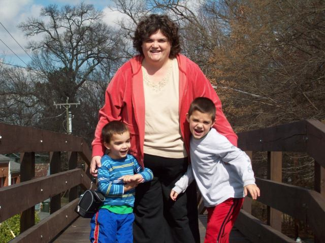 DeAnna with boys in Waxhaw
