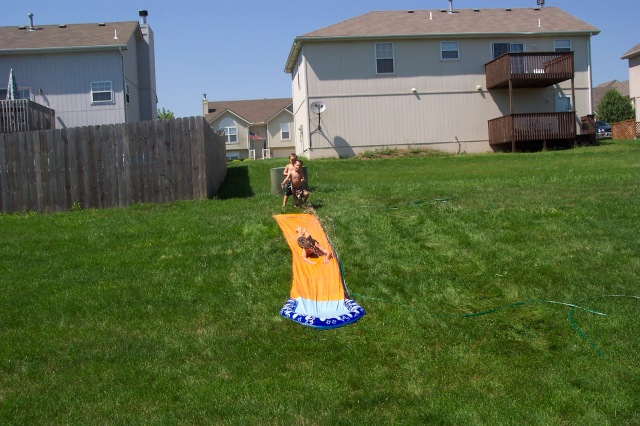 boys slip slide