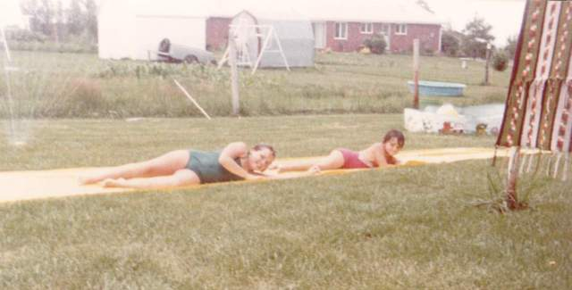 Denise and DeAnna slip  slide