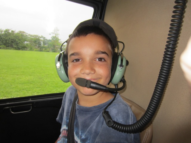 Jonah helicopter ride