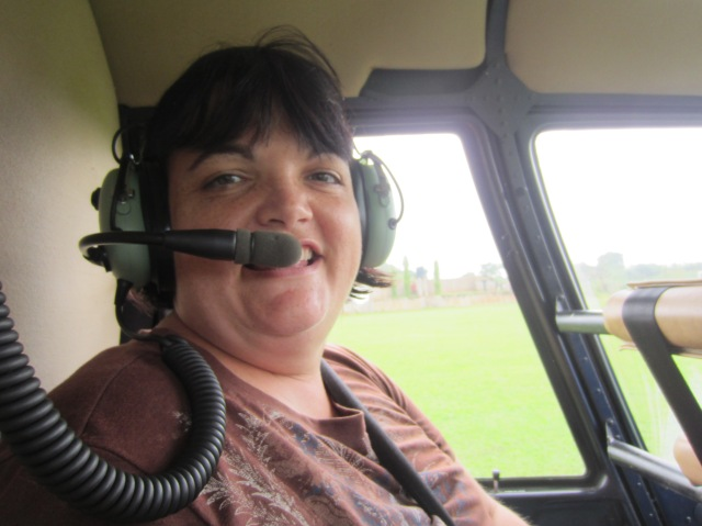 DeAnna helicopter ride