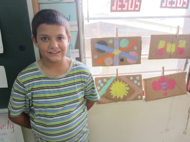 Joshua in classroom