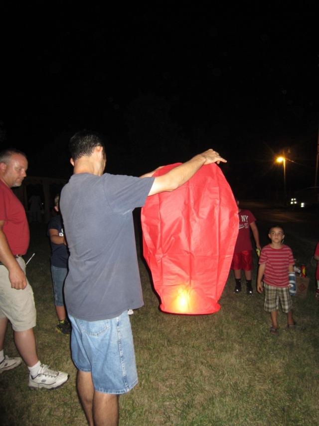 David with lantern