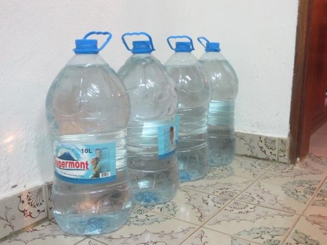 ten liter bottles