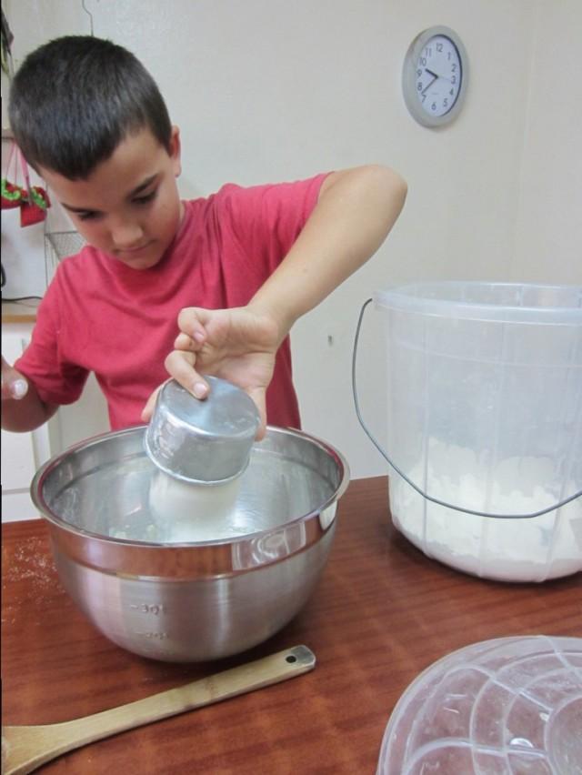 Mixing Beignet Dough