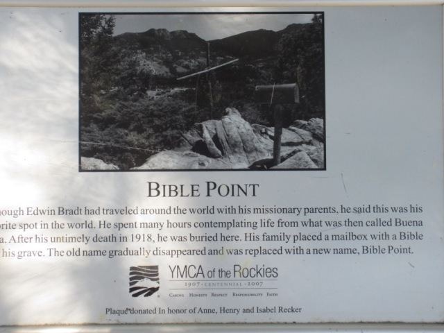 plaque at Bible Pt