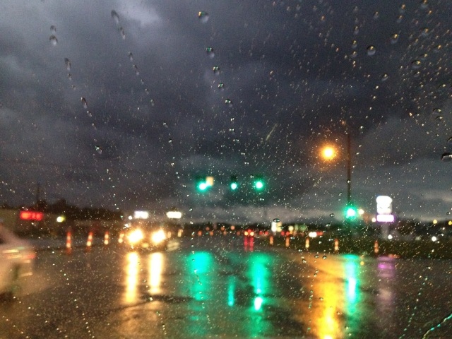 storm with rain