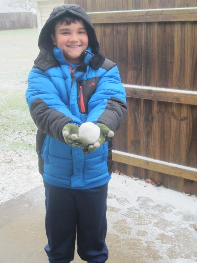 Jonah in snow